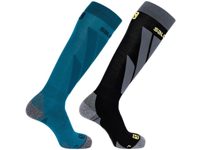 Salomon S/Access Calcetines Pack de 2, fjord blue/black